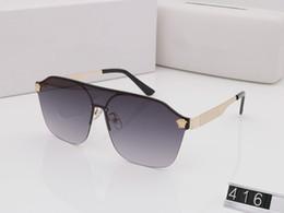 moda para jovenes Rebajas 2019 NUEVAS gafas de sol de lujo mujer hombre marca diseñador gafas de sol 416 para hombres modelos de muestra joven diseñador de moda gafas des lunettes de solei