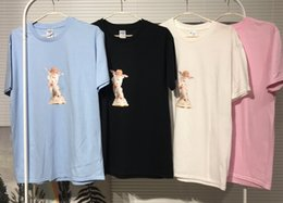 Ángeles cerámicos online-2019 Nuevo Streetwear Hip hop Verano Meissen Semana 6 Cupido estampado de cerámica ángel T-shirt Hombres mujeres Tee algodón Tops