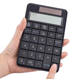 Display lcd a tastiera online-Nuovi MC-56AG mini tastiere senza fili di alluminio Tastierino numerico rilievo senza fili della tastiera 29 tasti numerici esterna con display a cristalli liquidi