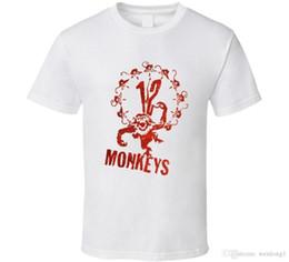 2019 12 monos 12 Monkeys Cult Classic Sci Fi Movie TV Show camiseta 100% algodón moda camisetas Top Tee de calidad superior 2018 nueva marca para hombre 12 monos baratos