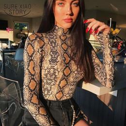 2019 camisolas Mulheres da moda blusas 2019 novas mulheres de manga longa camisas sexy pele de Cobra impressão mulheres blusa camisa das mulheres tops e blusa 2593 50 desconto camisolas