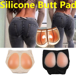 Imbottitura in silicone online-Natiche Shaper Panty Intimo in silicone Finte glutei Imbottito sexy Pad in silicone shapew Panty Donne senza cuciture Hip Up Plus Size