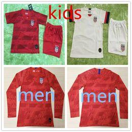 Camisetas de futebol dos eua on-line-19 20 EUA PULISIC futebol Jersey 2019 homens crianças kit DEMPSEY BRADLEY Altidore MADEIRA América Futebol jerseys Estados Unidos shirt