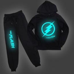 2019 flash hoodie La camiseta de los niños luminoso flash juego de pantalones sudaderas con capucha Tops Niño Niña Pullover Ropa de deporte Niños regalo sorpresa flash hoodie baratos