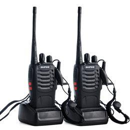 5w walkie talkies en Ligne-Baofeng BF-888S Talkie-walkie UHF 5W 400-470MHz 16CH Radio bidirectionnelle de poche Moniteur de balayage Moniteur Jambon Radios CB BF 888s