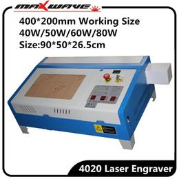2019 piccolo taglio laser Taglierina laser da tavolo 4020 40 W 50 W CO2 per taglio laser 400 * 200 mm piccolo taglio laser economici