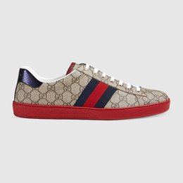 Mocasines planos online-Diseñadores de moda Para Hombre Para Mujer Lujo Inferior Rojo Hombres Mujeres Mocasines Zapatillas de deporte Moda G Low Casual Flat Zapatillas de conducción al aire libre