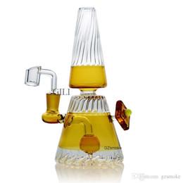 """Cúpula de tubos on-line-8.2 """"copo de vidro colorido bonger Tubo Dab Rig Autêntico com tigela de quartzo banger dome oil rig wax Tubos de Água Bongos para Fumar inebriante # 8"""