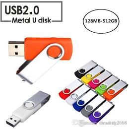 memoria flash usb de memoria de 128 gb Rebajas Moda Diseño verdadero de la capacidad giratoria de 16 GB-64 GB USB 2.0 Flash Memory Stick Pen Drive de almacenamiento de disco U del pulgar