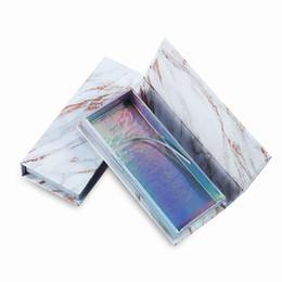 Faux cils paquet en Ligne-Marbre Boîte De Paquet De Cils Vide Boîte En Carton Boîte Magnétique Emballage Faux Cils Emballage Boîte De Paquet De Faux Cils RRA915