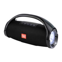 Ipx7 lautsprecher online-10W kleine Kriege Bluetooth-Lautsprecher im Freien Portable IPX7 Wasserdichte Stereo 3D-Lautsprecher LED-Licht Taschenlampe Beleuchtung Subwoofer