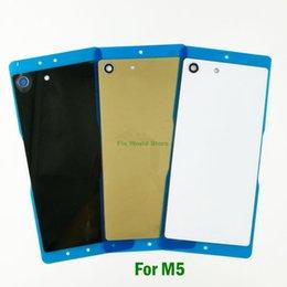Argentina Para Sony Xperia M5 Cubierta trasera Cubierta de la puerta Cubierta posterior de la batería Chasis + Chip NFC + Reparación de adhesivos adhesivos Suministro