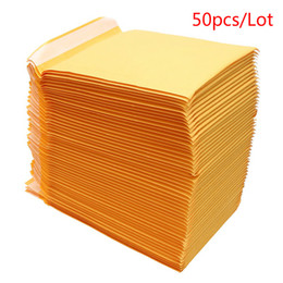xl sacolas de armazenamento a vácuo Desconto 10/20/30/50 unidades / lote Kraft Mailers papel bolha acolchoado envio envelope com saco plástico de bolhas de Divulgação Envelopes Bolsas Mailers