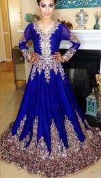 2019 robes de soirée caftan marocain musulman Abaya à Dubaï Caftan Robe Islamique Abaya Dentelle Broderie À Manches Longues Arabe Robe De Soirée De Bal Marocain Caftan promotion robes de soirée caftan marocain musulman