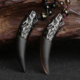 eis obsidian anhänger Rabatt Naturstein Schwarz Und Eis Obsidian Anhänger Halskette Wolf Zahn Amulette Und Talismane Paar Halskette Für Frauen Und Männer