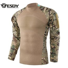 ESDY New Tactical Shirt Hommes Chasse En Plein Air Shirt Chasse Base Layer Camouflage Motif Vêtements Fonctionnels Pour Homme ? partir de fabricateur