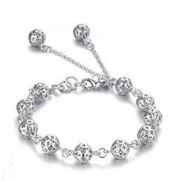 Newe Arrivée Chanceux Perle Bracelet pour Femmes Filles Romantique Creux À Billes Bracelet Bracelet pour Femmes Fille De Noce Femelle Givré Bal ? partir de fabricateur