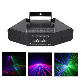 mini estrela laser estágio iluminação Desconto AUCD DJ 6 Lente RGB Feixe de Rede Wondeful DMX Iluminação de Palco de Laser Festa de Feriado de Casamento Em Casa Show de Luz do Projetor Efeito A-X6