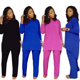 Vêtements ethniques en vrac en Ligne-2018 Africain Robe Femmes Vêtements Limited Nouveau Sexy Rétro Ethnique Dashiki Mode Lâche Deux Ensembles De Pantalon Ajusté + Robe Chemise