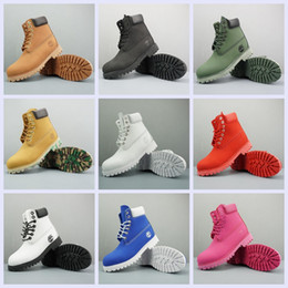 2019 sapatas verdes bonitas das mulheres NovoTimberlandbotas Mulheres Homens Designer Sports Vermelho Branco Inverno Sneakers TBL inicialização Casual Formadores das mulheres dos homens Tornozelo de luxo 36-45