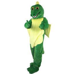 Hot green dragon Mascot Costume Fancy Dress Adult Size Free Shipping 73