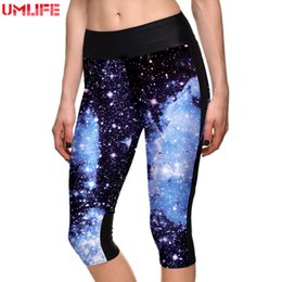 stampa di alberi leggings Sconti Pantaloni da donna Leggings Plus Size 2019 Fitness Galaxy Landscape Tree 3D Print Leggings per le donne Slim Tights Sport Yoga Pants