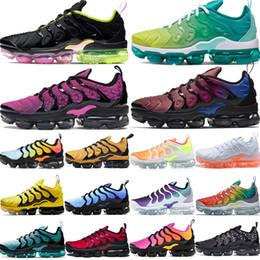Sapatilhas de arco-íris on-line-nike air max 2020 vapormax 2020 hot ser verdadeiro arco-íris persa padrões de prata violeta mens Tn mais designer de moda tênis de corrida das mulheres luz menta sneaker de luxo