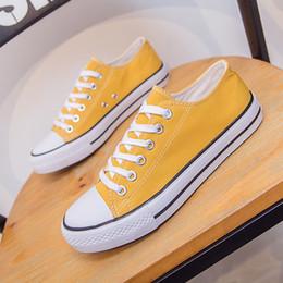 07f47bcf1 2019 sapatas de lona agradáveis Agradável Primavera E Verão Novas Mulheres  Coreano Moda Sapatos Casuais Cinza