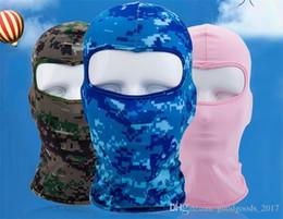 Tarnung fahrrad online-Fahrrad Radfahren Masken Motorrad Barakra Hut Radfahren Caps Outdoor Sport Ski Maske CS winddicht staubkopf setzt Camouflage Taktische Maske MD002