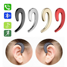 Canada Creative Aucun écouteur sans fil Casque complètement indolore avec un crochet d'oreille Bluetooth unique écouteur Conduction osseuse Porter des écouteurs supplier single ear headset for iphone Offre