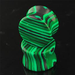 Pietre di malachite per gioielli online-6-16mm organico verde concavo malachite pietra tappi per le orecchie tunnel piercing expander barella a orecchio sella monili penetranti del corpo per le donne uomini