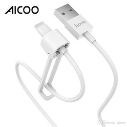 Iphone folding kickstand en Ligne-AICOO X31 Câble de données de stockage repliable pour Kickstand Multifonction Portable 1 m HOCO TPE Câble de charge pour i7 Retail Package