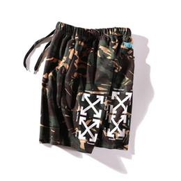 2019 camuflagem casal 19ss eua fashion sports marca off clássico camuflagem impresso calções casuais temperamento casal tendência esportes confortáveis calças de praia camuflagem casal barato