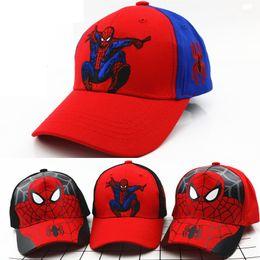 kinder baseball cap cartoons Rabatt Cartoon Spiderman Baseballmütze Mode Spinne Kinder Hysteresenkappe Einstellbare Kinder Hip Hop Outdoor Freizeit Studenten Hüte