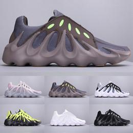 2019 люминесцентная обувь Новые Kanye 451 Wave Runner 3M Вулкан Mauve Кроссовки для Мужчин Флуоресцентные Тройные Черно-Белые Мужские Кроссовки 700 s Desigenr Shoes дешево люминесцентная обувь