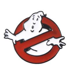 esmalte Desconto Hot Ghostbusters Esmalte Pin Branco Fantasma Designer Broches Sacos de Roupas de Lapela Broches De Luxo Filme de Jóias Dos Desenhos Animados para o Presente