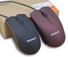 компьютеры apple tablets Скидка 2019 Lenovo M20 Mini Проводная 3D Оптическая USB Игровая Мышь Мыши Для Компьютера Ноутбук Игры Мышь с розничной коробке