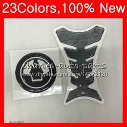 Zx6r aufkleber online-3D Carbon Tank Pad Protector Für KAWASAKI NINJA ZX6R 07 08 ZX-6R ZX6R 07-08 ZX6R ZX6R 2007 2008 07 CL33 Tankdeckel Aufkleber Aufkleber