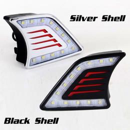 2019 лампа prado 2шт/набор автомобиля DRL дневные ходовые огни для Hilux Виго 2012 2013 2014 левый и правый бампер DRL Белый DRL