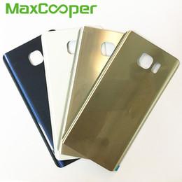 Porta della batteria della nota di galassia online-10 Pz / lotto di Alta Qualità Per Samsung Galaxy Note 5 N920 N920F Coperchio Della Batteria Posteriore Posteriore Porta Con Adesivo Adesivo