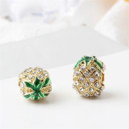 braceletes de frutas Desconto Strass abacaxi fruta liga charme talão moda jóias deslumbrante estilo europeu apto para diy pulseira pulseira
