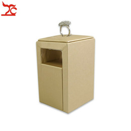 New Design Shop Exhibitor High Class Ring Stand Jewelry Display Holder Leather Rings Rack Storage for Window Display Counter Showcase de