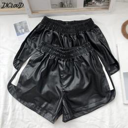 Cortos Cuero Pantalones De Elástica Cintura Online qSUzpMVG