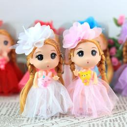 12 centimetri confuso bambola di Kawaii Doll Girl portachiavi decorazione del sacchetto pendente regalo di compleanno abito da sposa fai da te LOL capelli può spostare giocattoli Bambole da sacchetto della cinghia del sacchetto della vita fornitori