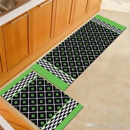 Modern Basit Geometri Zemin Mat Soyut Şerit Mutfak kaymaz Mat Yatak Odası Başucu Banyo Tuvalet kaymaz Halı cheap blue carpet modern nereden mavi halı modern tedarikçiler