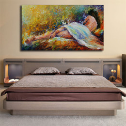 nude girls oil paints Coupons - Nude Girls Woman Figure Morning Tenderness Canvas Painting Print Bedroom Home Decor Modern Wall Art Oil Painting Poster Artwork