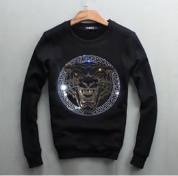 sudaderas hba blanco Rebajas El diseño al por mayor del diamante de los hombres al por mayor espesa los suéteres gruesos del algodón de la marca de los hombres de moda de la camiseta caliente
