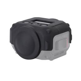 2019 casquillos centrales a presión cubierta de la lente impermeable de la piel de silicona cubierta protectora de la cámara para Garmin 360 Virb cámara