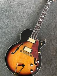 магазин классической гитары Скидка Горячая распродажа классический L5 джаз гитара Custom Shop хамбакер пикапы джаз электрогитара назад пламенный клен левая рука доступна