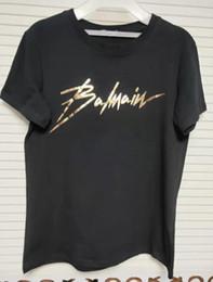 camisetas de mujer de oro Rebajas Verano conciso de lujo para hombre diseñador camiseta hip hop mujeres letras de oro camisetas de impresión camiseta casual monopatín cuello redondo camiseta